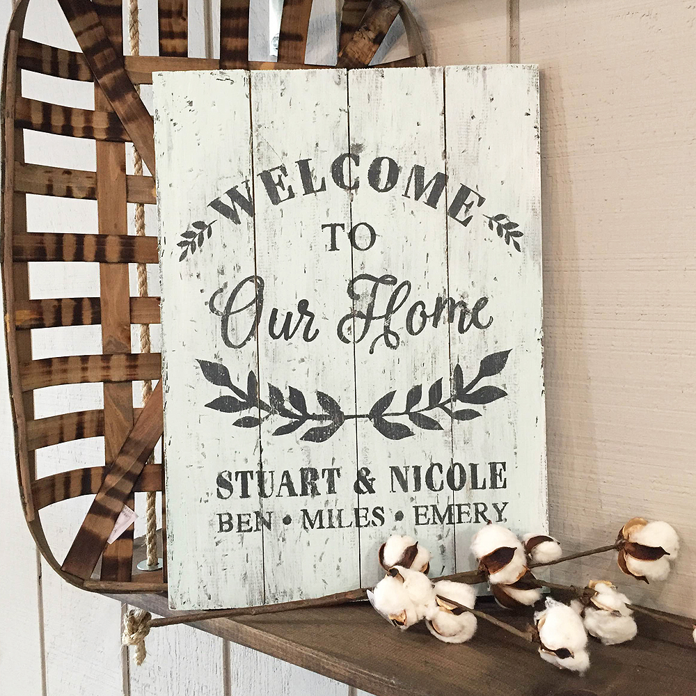 Wooden Welcome Signs For Homes - Wooden Designs
